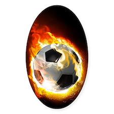 Soccer Fire Ball Decal