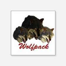 "Funny Wolfpack Square Sticker 3"" x 3"""