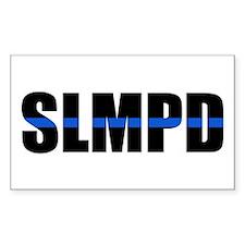 SLMPD Blue Line Rectangle Decal