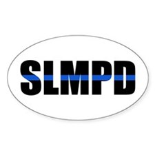 SLMPD Blue Line Oval Decal