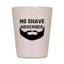 No Shave November Shot Glass