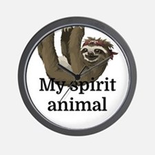 My Spirit Animal Wall Clock
