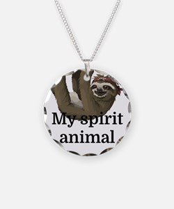 My Spirit Animal Necklace Circle Charm