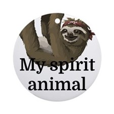 My Spirit Animal Round Ornament