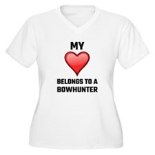My Heart Belongs To A Bowhunter Plus Size T-Shirt