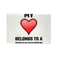 My Heart Belongs To A Bowhunter Magnets