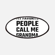 My Favorite People Call Me Grandma Patch