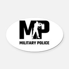 MP Military Police Oval Car Magnet