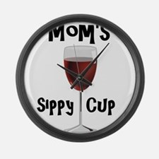 Mom's Sippy Cup Large Wall Clock