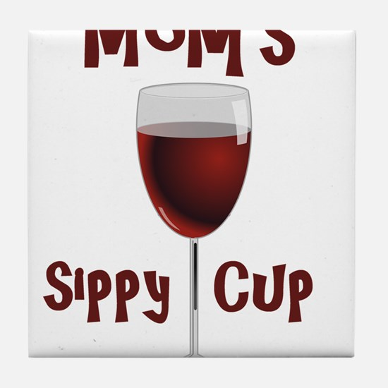 Mom's Sippy Cup Tile Coaster