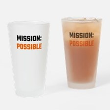 Mission: Possible Drinking Glass