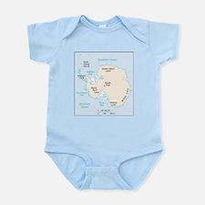 Antarctica Map Body Suit
