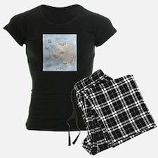 Antarctica Map Pajamas