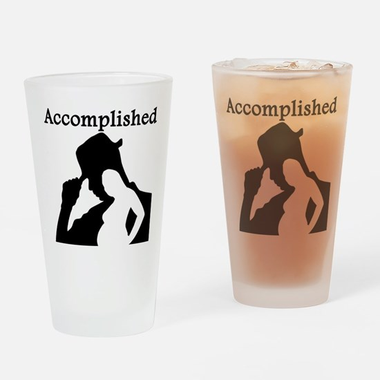 Mission Accomplished Drinking Glass