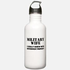 Military Wife Water Bottle