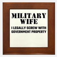 Military Wife Framed Tile