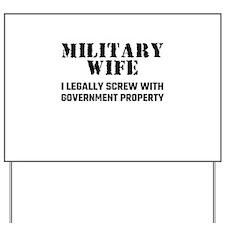 Military Wife Yard Sign