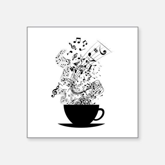 Cup of Music Sticker