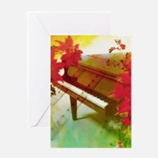 Vintage Christmas piano Greeting Cards
