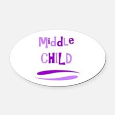 Middle Child Oval Car Magnet