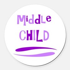 Middle Child Round Car Magnet