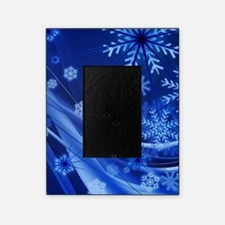 Blue Snowflakes Christmas Picture Frame