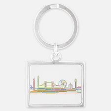 London Skyline Landscape Keychain