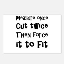 Measure Once Cut Twice Th Postcards (Package of 8)