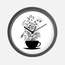 Cup of Music Wall Clock
