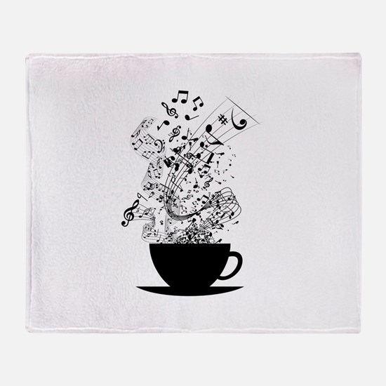 Cup of Music Throw Blanket