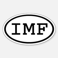 IMF Oval Oval Decal