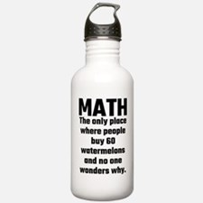 Math The Only Place Wh Water Bottle