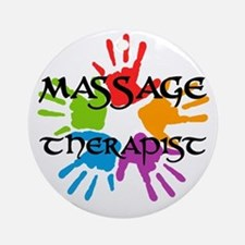 Massage Therapist Round Ornament