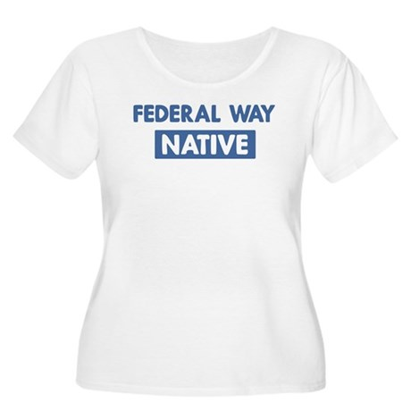 FEDERAL WAY native Women's Plus Size Scoop Neck T-