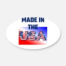 Made In The USA Oval Car Magnet