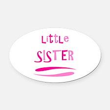 Little Sister Oval Car Magnet