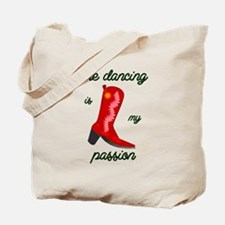 line dancing is my passion Tote Bag