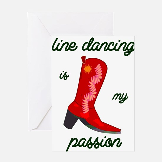 line dancing is my passion Greeting Cards