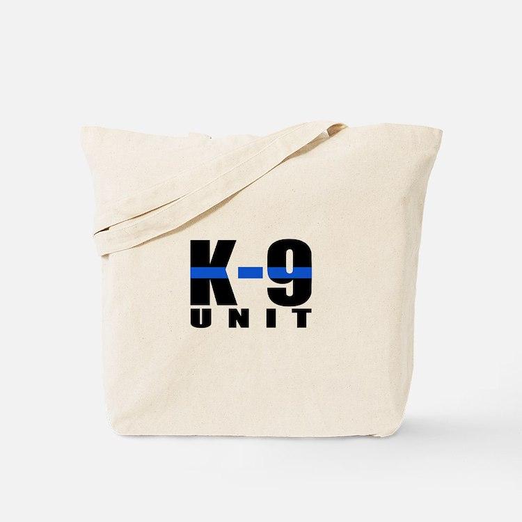 K-9 Unit Blue Line Tote Bag