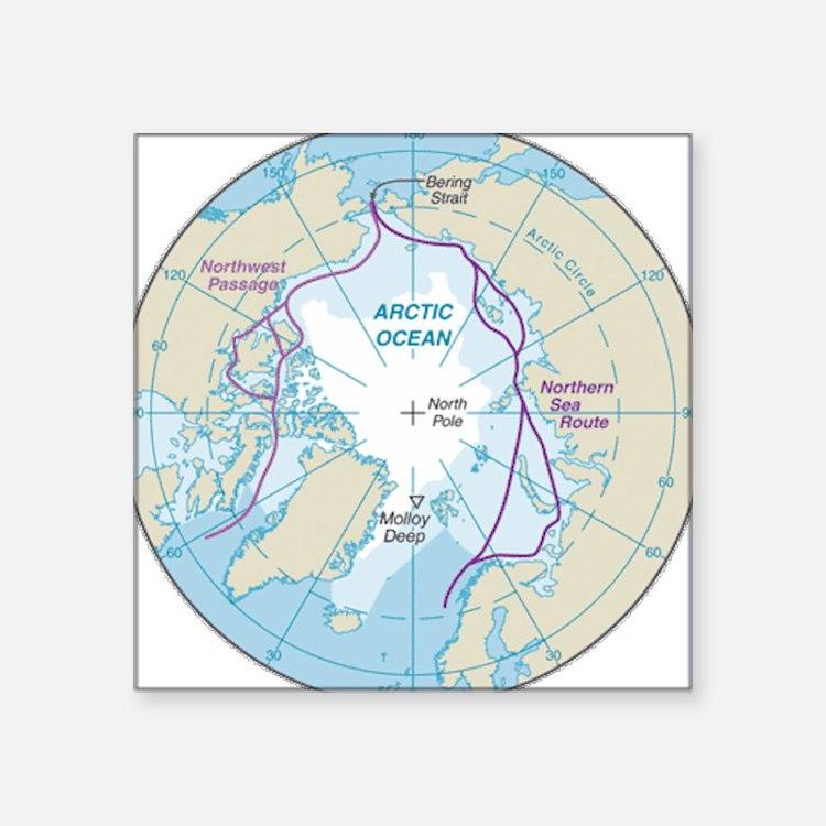Arctic Circle Map Sticker