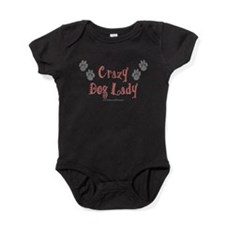 Cute Crazy dog lady Baby Bodysuit