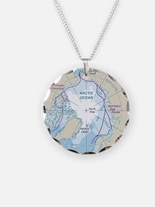 Arctic Circle Map Necklace