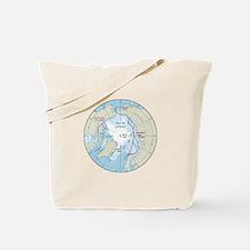 Arctic Circle Map Tote Bag