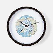 Arctic Circle Map Wall Clock