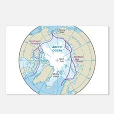 Arctic Circle Map Postcards (Package of 8)