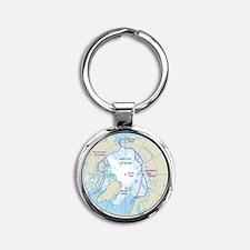 Arctic Circle Map Keychains