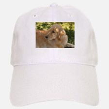 golden retriever grass Baseball Baseball Cap