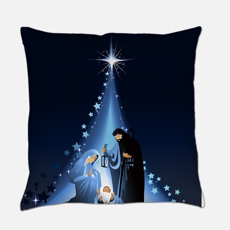 Nativity scene Everyday Pillow