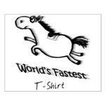 World's Fastest T-shirt. Horse racing Small Poster