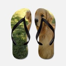 Unique Golden retriever Flip Flops